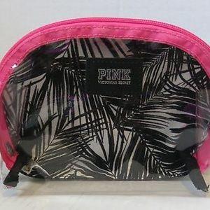 Victoria's secret Clear Palm Print Makeup Bag NEW